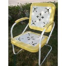 Yellow Retro Lawn Chair $150 Free Shipping. 2 Chairs  $279, 4 for $549
