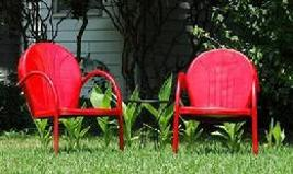 Retro Metal Patio Furniture Throughout Retro Metal Lawn Chairs Patio Furniture
