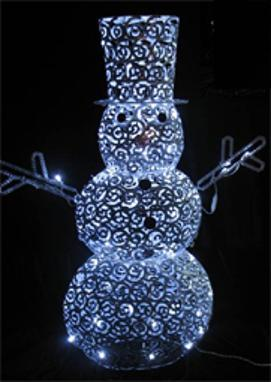 outdoor christmas snowman 60 led decoration 48 139