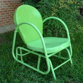 Single Retro Metal Lawn Glider $157