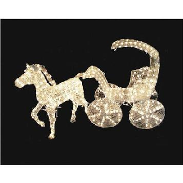 outdoor christmas decoration horse carriage