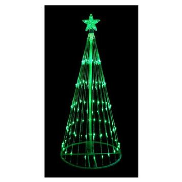 6' Green LED Light Show Cone Christmas Tree Lighted Yard Art Decoration