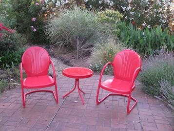 Garden Furniture Vintage retro patio furniture & metal glider just like you remember!