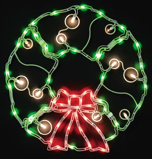 32 outdoor christmas wreath 70 lights